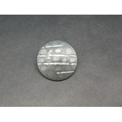 Bouton griffe argent 23mm