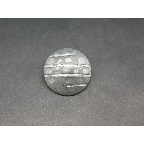 Bouton griffe argent 23mm
