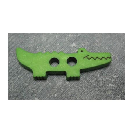 Bouton crocodile vert b23