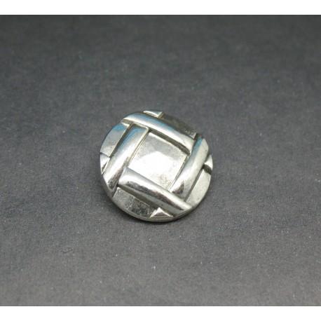 Bouton tresse martelée 23mm