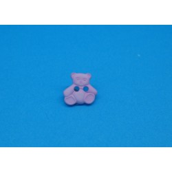 Bouton ours rose 11mm