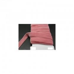 Velours elastique frappe rose 16 mm