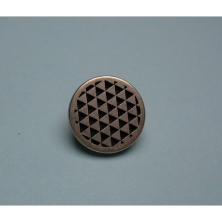 Bouton damier 15mm