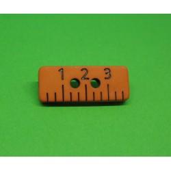 Bouton regle orange 20mm