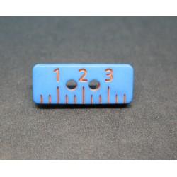Bouton regle bleue 20mm