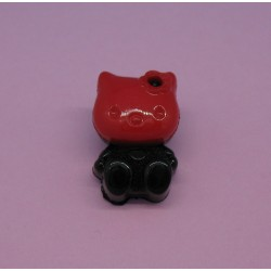 Bouton chat rouge 18mm