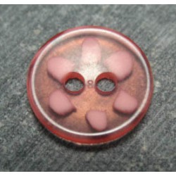 Bouton pétale rose 13 mm b57