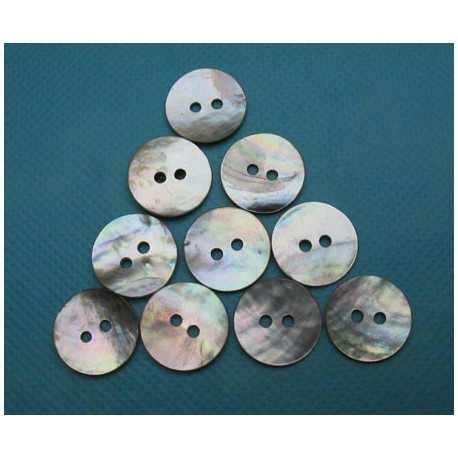 Lot 10 boutons nacre agoya 15mm