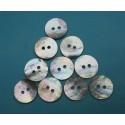 Lot 10 boutons nacre agoya 15mm