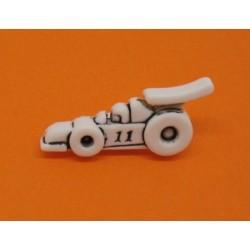 Bouton Formule 1 blanche 29mm