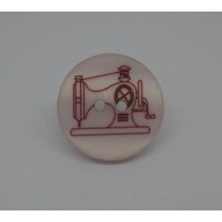 Bouton machine à coudre rouge 20mm