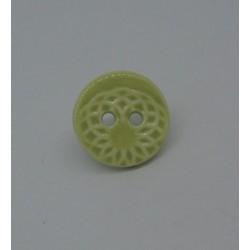 Bouton ellipse émaillé amande 13mm