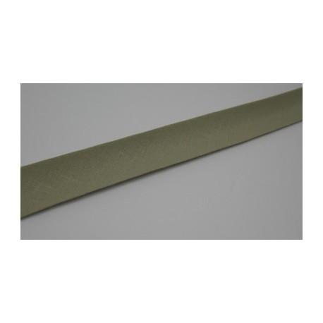 Biais préplié coton  10mm fini beige