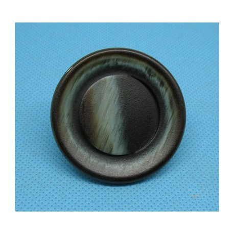 Bouton imitation corne marron amande 45mm