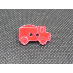 Bouton camion rouge 21mm