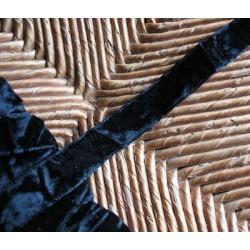 Panne de velours noire 16mm