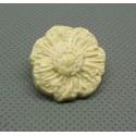 Bouton fleur émaillée écru 22mm