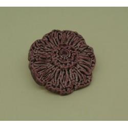 Bouton fleur émaillée prune 25mm