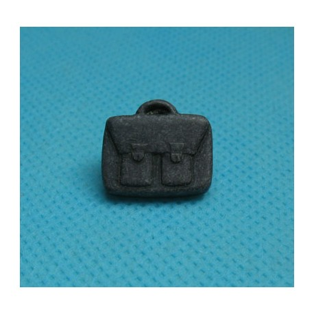 Bouton cartable anthracite 16mm