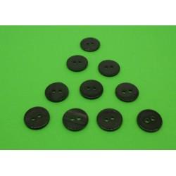 Lot 10 bouton nacre rivière ébène 13mm