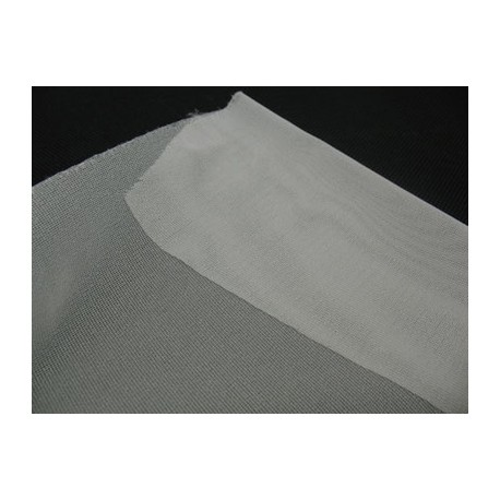 Toile thermocollante tissée blanche cassée