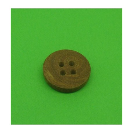 Bouton buis 4t marron clair 15mm