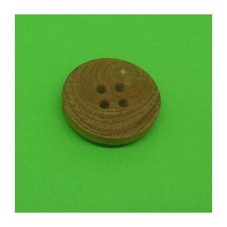 Bouton buis 4t marron clair 20mm