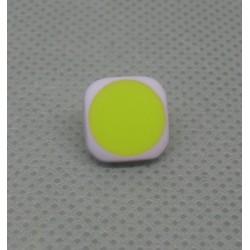 Bouton carré lavande vert anis 12mm