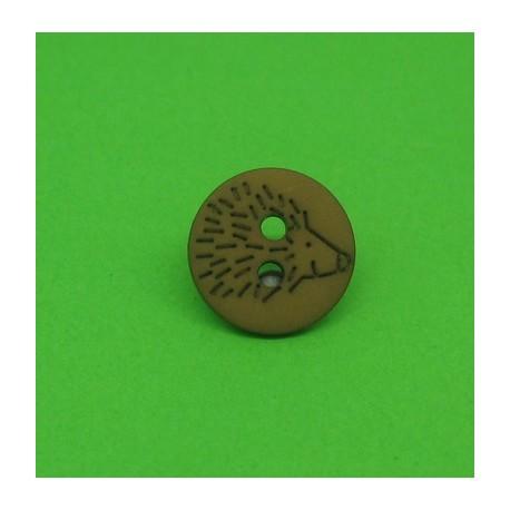 Bouton hérisson marron 12mm