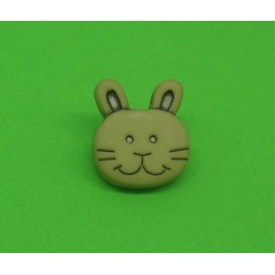 Bouton lapin beige 14mm