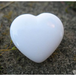 Bouton coeur blanc brillant 18 mm b14