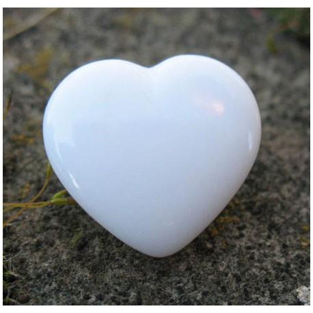 Bouton coeur blanc brillant 18 mm b14
