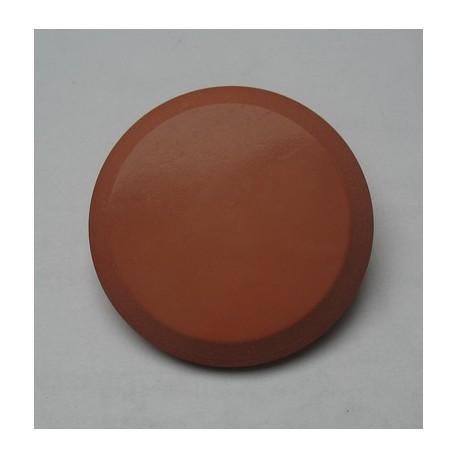 Bouton imitation cuir cognac 35mm