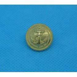Bouton ancre métallisé doré 18mm