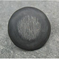 Bouton corne gratté anthracite 30mm