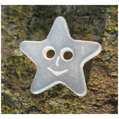 Bouton étoile smile translucide 15 mm b41