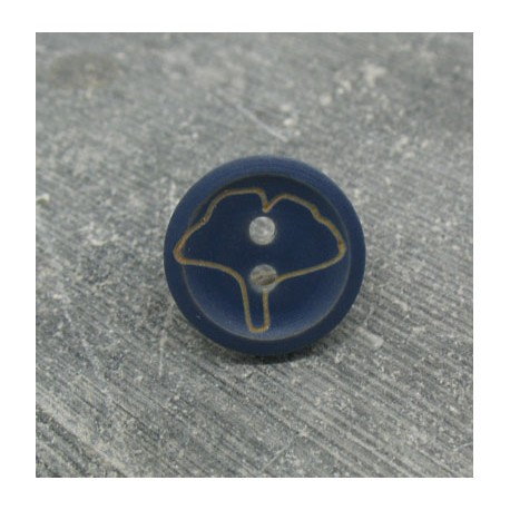 Bouton buis ginkgo bleu raf 15mm