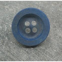 Bouton buis strié bleu raf 22mm