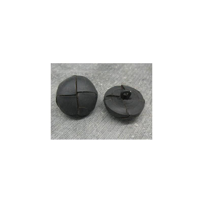 bouton cuir bomb noir mat 21mm auchtibouton. Black Bedroom Furniture Sets. Home Design Ideas