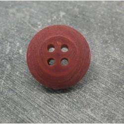 Bouton buis 4t bombé lie de vin 18mm