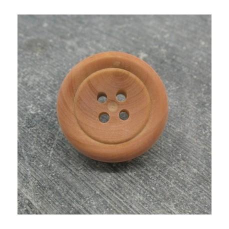 Bouton buis rose 22mm