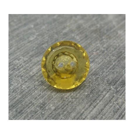 Bouton verre biseauté maïs 11mm