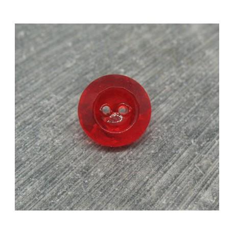 Bouton verre biseauté rubis 11mm