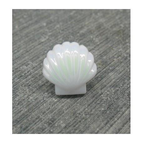 Bouton coquillage blanc nacré 11mm