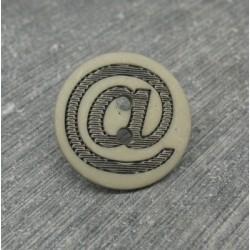 Bouton  arobase gris 18mm