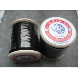 Bobine 200 m noir coton