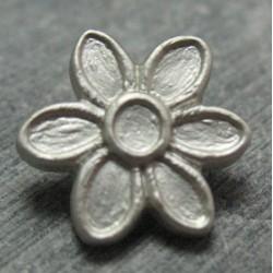 Bouton fleur gris 15mm
