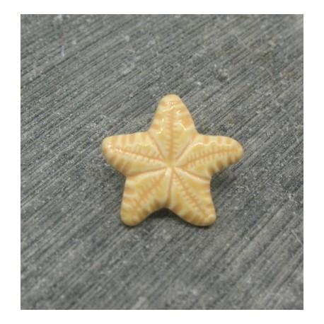 Bouton étoile de mer verni pèche 15mm