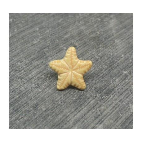 Bouton étoile de mer verni pèche 12mm