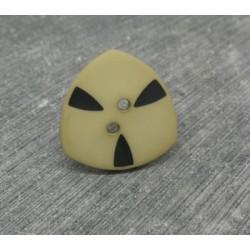 Bouton tri atomique beige 20mm